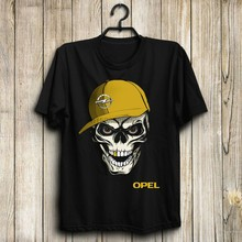 Opel grand land X insignia grand sport corsa US ชายเสื้อยืดขนาด S ถึง 5Xl skull(China)