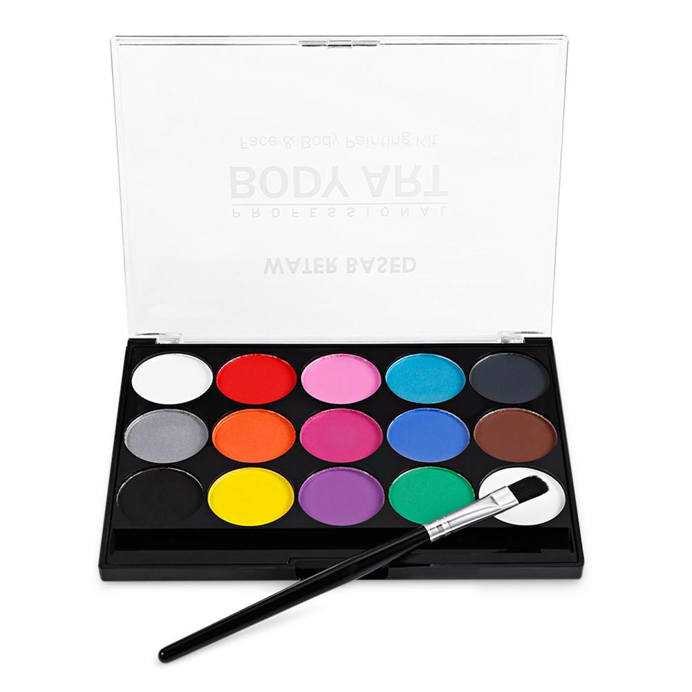 15 Colors Body Face Paint Pigment Water Soluble Festival Party Face Body Painting Play Clown Halloween Makeup Face Paint Set