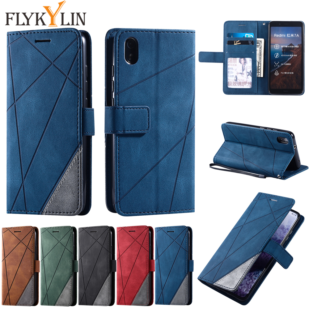 Leather Case For Xiaomi Redmi Note 9S 7 8 9 Pro Max 8A 7A K20 K30 case Flip Wallet cover For xiaomi mi A3 A3 Lite protect cover image