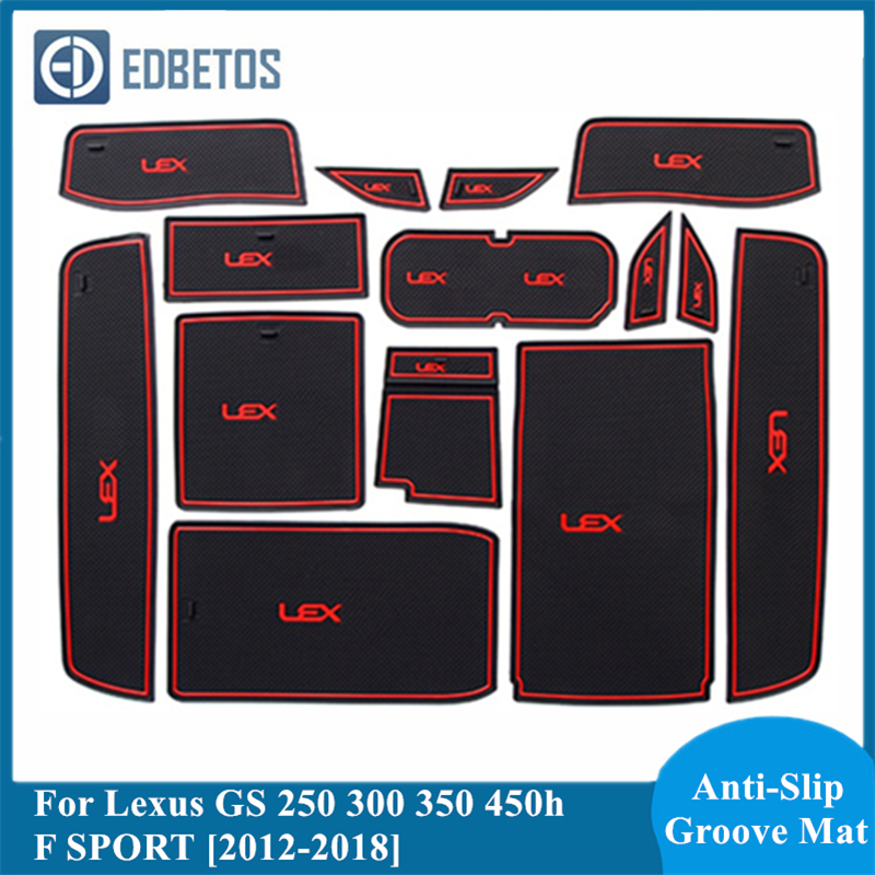 Gate Slot Coaster Mat For <font><b>Lexus</b></font> <font><b>GS</b></font> 250 300 <font><b>350</b></font> 450h <font><b>F</b></font> <font><b>SPORT</b></font> 2012 2013 2014 2015 2016 2017 2018 Accessories For <font><b>Lexus</b></font> <font><b>GS</b></font> Mats image