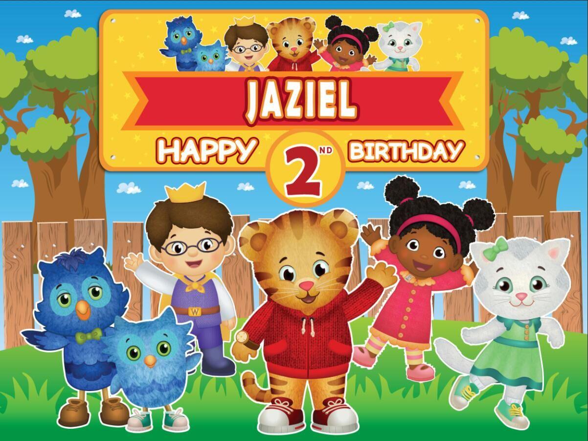 7x5ft Daniel Tiger Happy Birthday Party Garden Fence Personalized Custom Photo Studio Background Backdrop Vinyl 220cm X 150cm Background Aliexpress