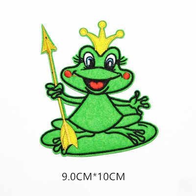 Belanda Den Bosch Karnaval Frog Patch untuk Pakaian Besi Di Bordir Jahit Bordiran Patch Lencana