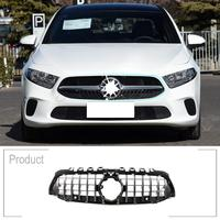 ABS Black Silver AMG Replacement GT Sport Vertical Mesh Front Grills Trim For Benz A Class W177 A200 A180 A260 2019