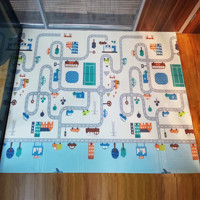 Hbc379f7fc6ff4bd6baeab6e68d903902z XPE Folding Play Mat 150X200cm Climbing Pad 0.5cm Baby Crawling Carpet Waterproof Toddler Carpet in The Nursery Activity Gym