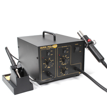 QUICK two-in-one repair 704 welding stand electric soldering iron 380W constant temperature hot air gun welding stand