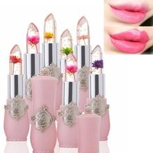 Flower Lipstick Color Jelly Transparent Temperature Change matte lipstick set