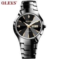 OLEVS Brand Luxury Love Watches Quartz paired watches Calendar Dress Women Men Watch Couples Wristwatch Relojes Hombre 2019