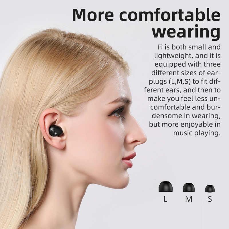 Bluedio Fi słuchawki Bluetooth TWS bezprzewodowe słuchawki douszne APTX wodoodporny zestaw słuchawkowy dla aktywnych bezprzewodowych słuchawek w uchu z etui z funkcją ładowania