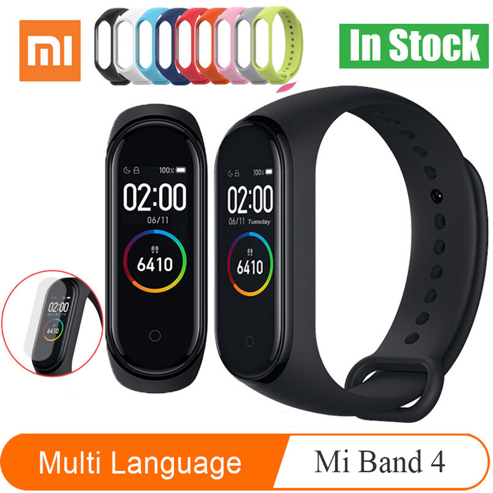 Original Xiaomi Mi Band 2 & 4 Smart Bracelet Band Heart Rate Fitness Xiaomi Miband Sleep Tracker Passometer Wristband