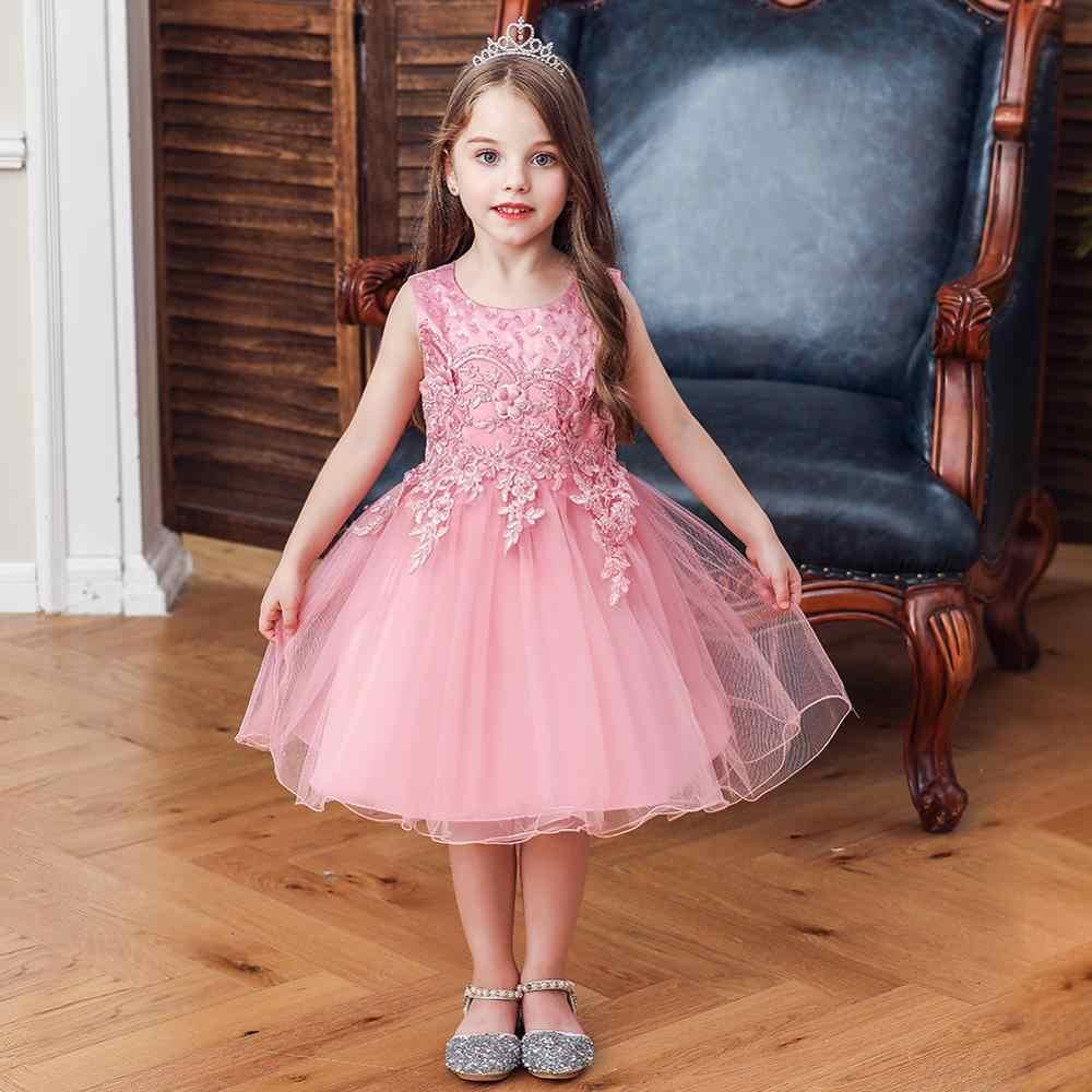 Novo bebê vestido de princesa vestido de festa para crianças menina Sem Mangas Backless Lantejoulas presidindo túnica Bow tutu da festa de Aniversário de Casamento d
