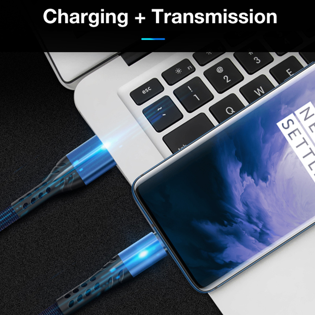 3.5A USB Cable For Samsung Note 10 Cable Fast Charging Cable For Huawei honor 8x Mobile Phone Charger Cord Usb Data Cable 2M 1M