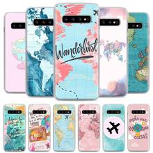 World map airplane travel Phone Case for Samsung