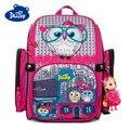Детский ортопедический рюкзак Delune  Розовый школьный ранец с 3D-принтом совы для девочек 1-4 класса  с рисунком  для детей
