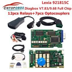 Lexia 3 PP2000 pełny Chip Diagbox V7.83 z 921815C Firmware Lexia3 V48/V25 lexia-3 dla Citroen dla Peugeot narzędzie diagnostyczne do samochodów