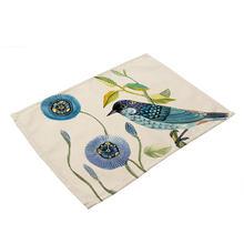 Винтажная настольная салфетка с рисунком птиц и цветов Настольный