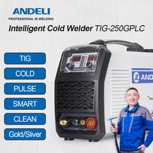 ANDELI spawarka TIG TIG-250GPLC TIG/zimno/puls/czyste/złoto srebro spawanie 5 w 1 spawarka TIG spawanie na zimno 220V/110V Optiona