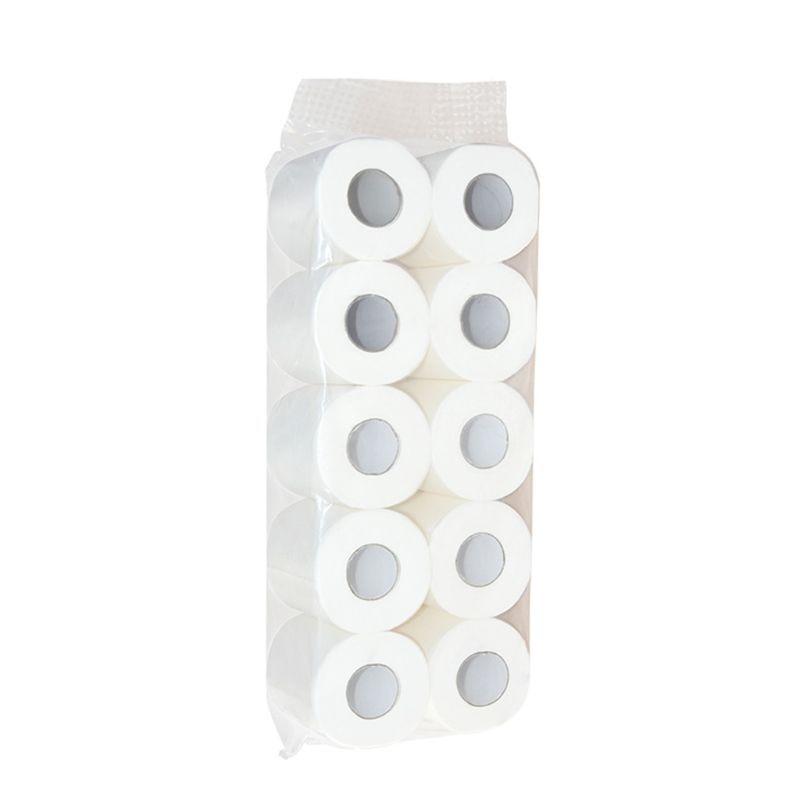 10pcs Soft Home Bath Toilet Roll Paper 3 Layers Restaurant Workshop Tissue X7YB