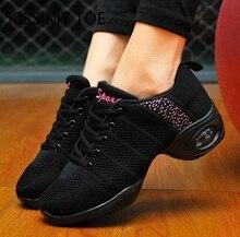 Женские дышащие кроссовки, повседневные сетчатые спортивные кроссовки на плоской платформе для танцев, весна 2020
