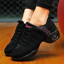 Fashion 2020 Spring Dance Casual Air Mesh Breathable Sneakers Chaussure Femme Sport Flat Platform Shoes For Women Zapatos Mujer