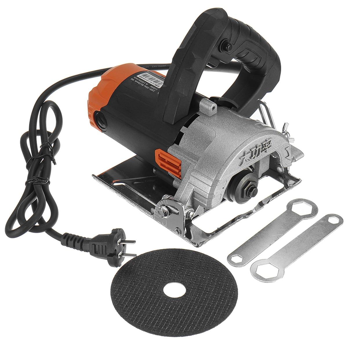 1180W moteurs de scie électrique 110mm lame 13000 tr/min haute vitesse bois métal portable Machine de découpe fil scie céramique marbre carrelage outil