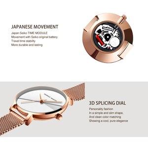 Image 5 - دروبشيبينغ A + + + جودة اليابان كوارتز حركة شبكة من الاستانلس استيل باند ساعة معصم نساء خمر مقاوم للماء السيدات الساعات