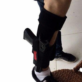 Concealed Carry Ankle Leg Holster For Glock 17 19 22 23 Ruger Lcp Sig 9mm Gun Pistol Tactical Pouch Black Color ELUANSHI 2