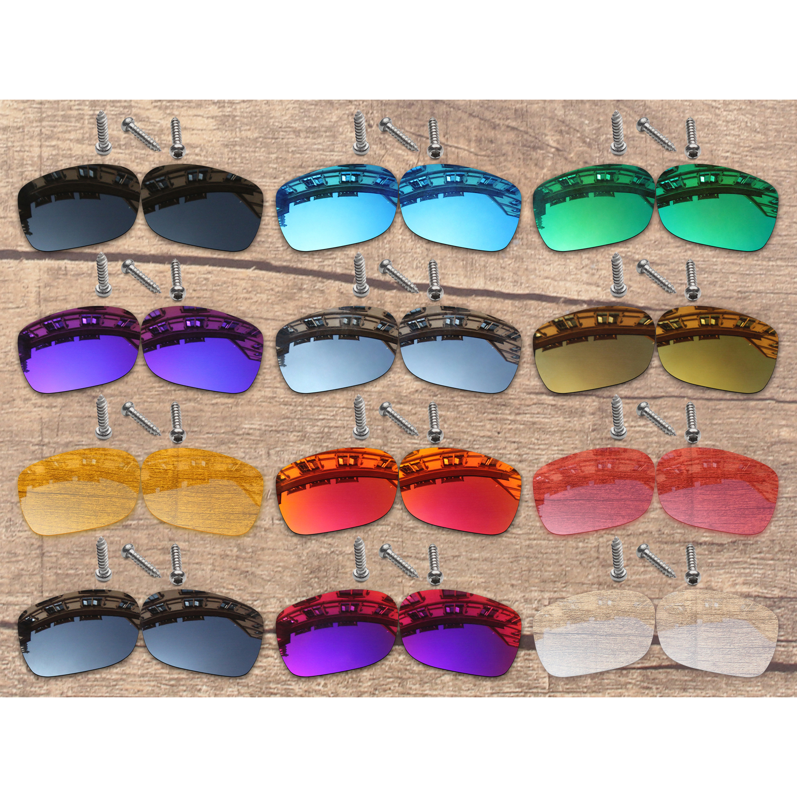 Vonxyz 20+ Color Choices Polarized Replacement Lenses & Screws For-Oakley TwoFace XL OO9350 Frame