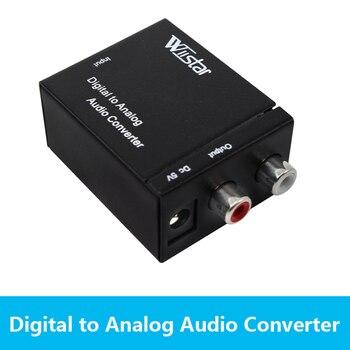 цена на 3.5MM RCA Digital to Analog Audio Converter Amplifier Decoder Optical Fiber Coaxial USB DAC Amplifiers USB Cable Spdif Stereo