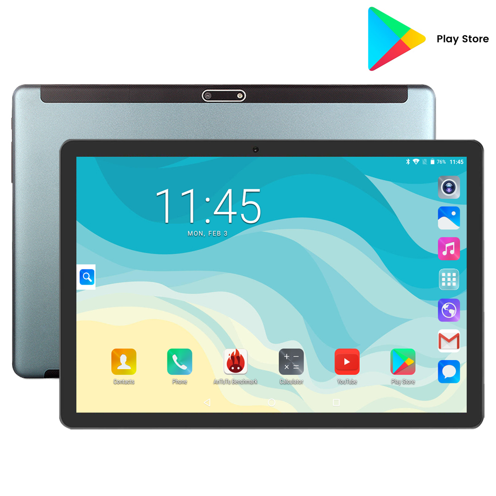 2020 New Android 7.0 Tablet Quad Core 32GB ROM Storage 10 Inch 1280x800 IPS Screen Dual AI Camera 5MP Wifi GPS Pad