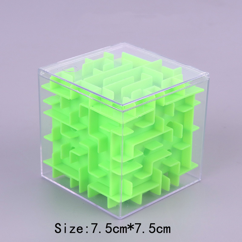TOBEFU 3D Maze Magic Cube Transparent Six-sided Puzzle Speed Cube Rolling Ball Game Cubos Maze Toys for Children Educational 7