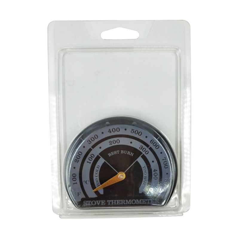 Magnetic Wood Fireplace Fan Stove Thermometer With Probe Household Barbecue Tool K4UA