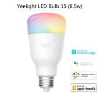 Yeelight-bombilla LED inteligente 1S YLDP13YL, colorida, 800 lúmenes, 8,5 W, E27, Lemon, para aplicación de hogar inteligente, Blanco/RGB