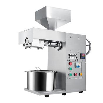 Oil Presser Hydraulic Press Olive Seed Flaxseed Peanut Oil Extractor Oil Expeller Stainless Steel Home- Business Equipment Tool недорого