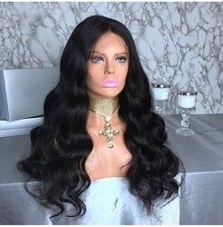 BAISI волосы бразильские волосы парики 130% плотность тела волна полный парик шнурка remy волосы с предварительно сорванным
