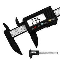 0 100mm/0.1mm eletrônico digital caliper compósitos de fibra de carbono mm & polegadas vernier caliper ferramentas de medição digital régua trammel Pinças    -