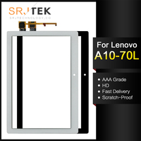 For New Lenovo Tab 2 A10-70 A10-70F A10-70L Replacement Touch Screen Digitizer Glass 10.1-inch Black White