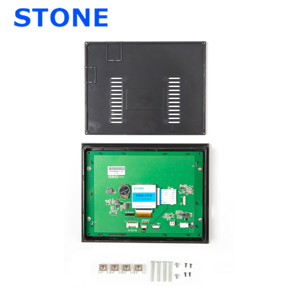 8 Inch Intelligent TFT LCD Touch Display With Controller Board + Program To Replace HMI & PLC With Plastic Frame