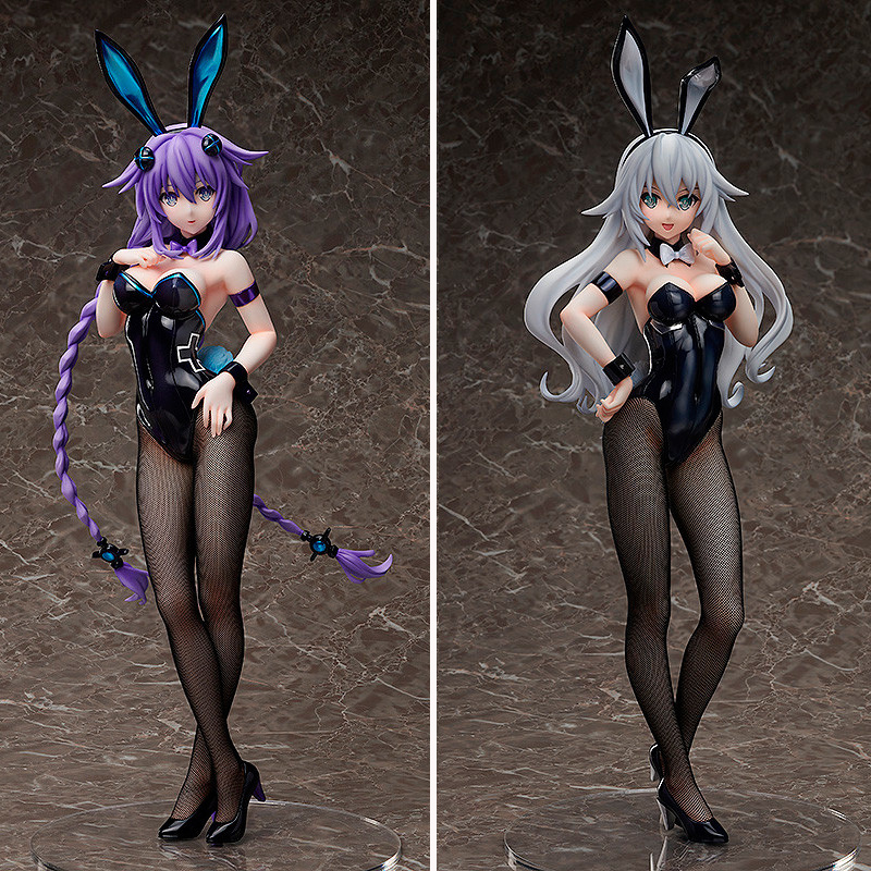 Anime FREEing Hyperdimension Neptunia Purple Heart Black Heart <font><b>Sexy</b></font> Bunny girl Ver. PVC Action <font><b>Figure</b></font> Collectible Model Toy image