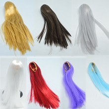 1/6 Scale Female Hair Wig Curly/Straight Style Hair 2.0 10 colors for 12