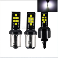 2PCs LED Car T20 7443 7440 W21W Turn Lamp 1156 BA15S P21W Led BAY15D 3030 12 Smd Brake Light Reverse Parking Lamps Day Lights цена и фото