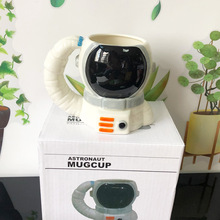 Mugs Astronaut Helmet Tea-Cups Handle Coffee-Mug Gift Creative Ceramic 350ML Friend Milk