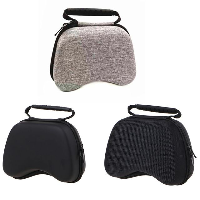 Portable Zipper Pouch Shockproof Hard Protective Case Storage Bag for X box One/Switch Pro/PS3/PS4 Gamepad Handle