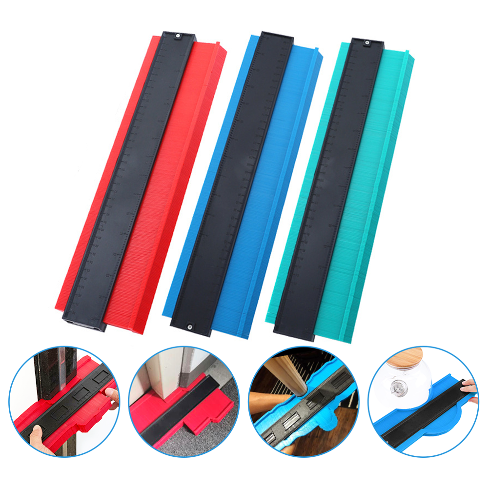 5/10/15/20 Inch Contour Gauge Plastic Profile Copy Shape Contour Gauge Meter Duplicator Standard Wood Marking Flooring Tools