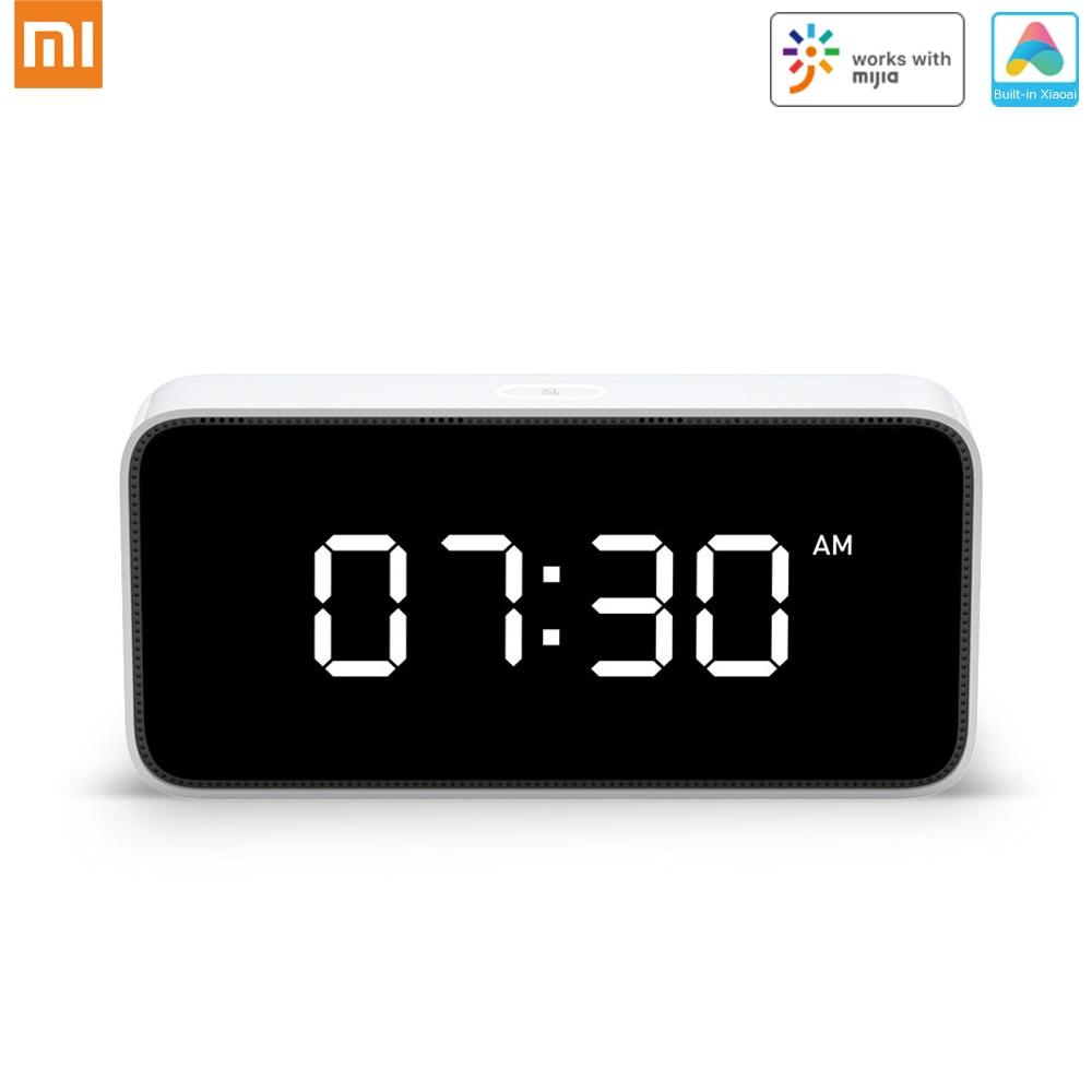 Original Xiaomi Xiaoai Smart Clock Alarm AI Voice Broadcast Clocks Table Dersktop Clock Automatic Time Calibration Mi Home App