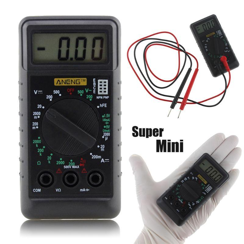 DT182 Digital Multimeter With Test Leads Pocket Portable AC/DC Voltage Electronic Meter Equipment Multimeter