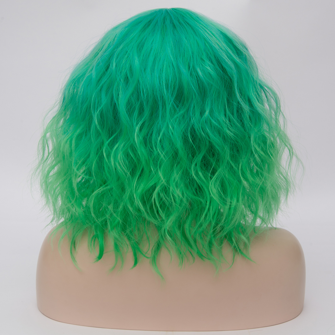Hbc3b2bc1cb8448be997c115e0cf59d1bu - Similler Short Synthetic Wig for Women Cosplay Curly Hair Heat Resistance Ombre Color Blue Purple Pink Green Orange Two Tones