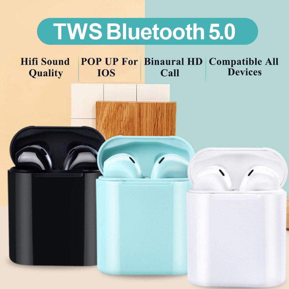 TWS Wireless Earphone Headphone Bluetooth 5.0 Sport Earbuds Stereo Sound Waterproof Headsets For Phone PK Honor Flypods Freebuds
