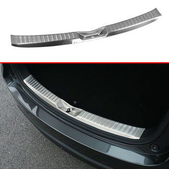 Accessories Fit For Mazda CX-5 KF 2017 2018 2019 Rear Tail Gate Bumper Lid Sill Cover Trim Stripe Exterior Parts Stainless Steel