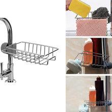 Stainless steel faucet rack kitchen storage shelf sponge dish