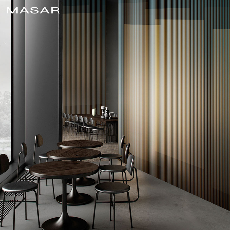 MASAR Line Geometry Light Luxury Custom Mural Restaurant Hotel Background Wall Paper Vertical Stripes Wallpaper Grille